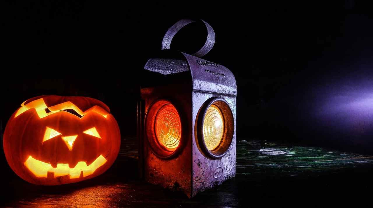 lamp halloween lantern pumpkin